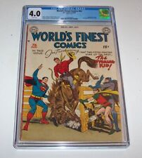 World's Finest Comics #42 - DC Golden Age 1949 Issue - CGC VG 4.0 (Wyoming Kid)