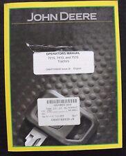 Genuine John Deere 7210 7410 7510 Tractor Operators Manual Real Clean