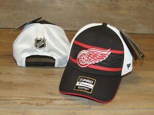 Fanatics Detroit Red Wings Authentic Pro Mesh Snapback Hat Cap size Men's