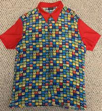 GIANNI VERSACE VERSUS Men's 90s Colorful Tile Print Shirt SIZE 42/56 IT Vintage
