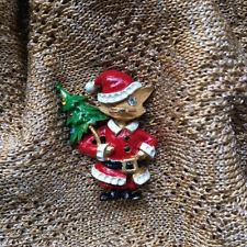 Christmas Brooch Butler & Wilson Cat with xmas tree Novelty Pin