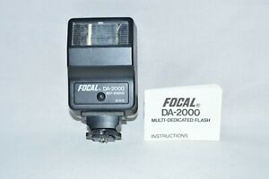 Focal DA-2000-Multi- Dedicated Shoe Mount Flash w Instructions (TESTED) (#101)