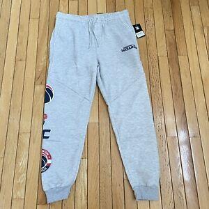 NBA Washington Wizards Therma Comfort Joggers Pants Gray Mens Size L