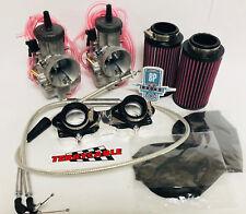 Banshee 38mm 38 Mil PWK Carbs Carb Kit Carburetor Complete Cable Manifold Filter