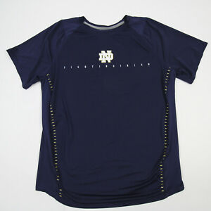 Notre Dame Fighting Irish Under Armour Short Sleeve Shirt Men's Navy Used
