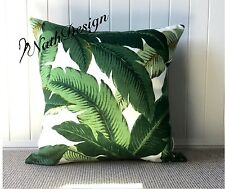 Genuine Tommy Bahama Outdoor Green & White Swaying Palm Leaf 50 Cm Cushion Cover