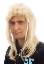 80's Blonde MULLET JASON WIG FANCY DRESS Pop Star HILL BILLY 1980s
