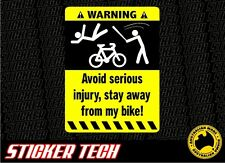 WARNING BICYCLE BIKE STICKER DECAL SUITS BMX CYCLE WE THE PEOPLE NS GT NORCO