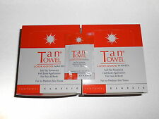 100 Tan Towel Half Body Classic Tantowels $280 Retail! Medium Tone NEW / FRESH!