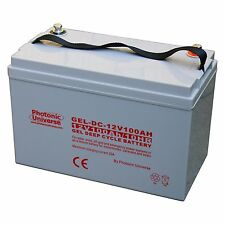 100Ah 12V Gel Deep Cycle Battery for Motorhome, Caravan, Boat, Leisure, Off-grid