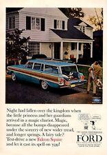 1964 Ford Falcon Squire Station Wagon PRINT AD
