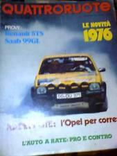 Quattroruote 241 1976 Tenault 5 TS SAAB