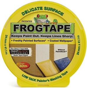 Frog Tape Yellow Delicate Surface Indoor Painters Masking Tape 24mm X 41.1m.