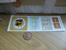 0675 Playmobil School 4324 Spare- Stickers Clock face & Hands