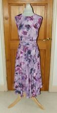 JENNY PACKHAM ELLA WATERCOLOUR PRINT FIT & FLARE SPECIAL OCCASION DRESS UK16 NEW