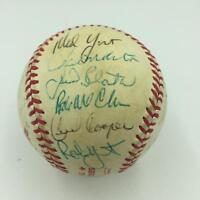 1982 Milwaukee Brewers AL Champs Team Signed World Series Baseball With JSA COA