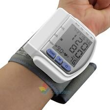 Digital LCD Wrist Blood Pressure Monitor Heart Beat Rate Pulse Meter Measure A