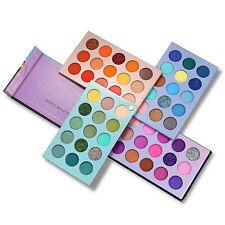 60 цветов тени для век палитра 4 in1 цвет доска макияж пигментированные матовое мерцание набор