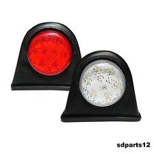 2 X Smd 4 Led Feux De Gabarit Et Signalisation En Caoutchouc 12v Blanc Rouge