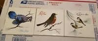 3 Vtg Screencraft Robin Blue Jay Chick-A-Dees ceramic tile trivet/wall hanging