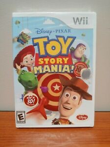 FACTORY SEALED Toy Story Mania! (Nintendo Wii, 2009) 3D Glasses Included NEW