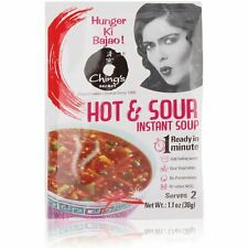 Chings Hot and Sour Instant Soup - Pack of 10, free shipping