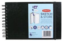 Derwent A5 Landscape Sketch & Store Wire Bound Sketch Book 165gsm