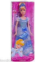 "NEW Disney SPARKLING PRINCESS 12"" CINDERELLA BARBIE DOLL Blue Gown Dress Clothes"