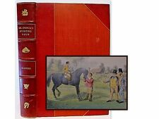 SPONGES SPORTING TOUR Leather RARE Hand Colored Plates 1st Ed Fox Hunting Horse
