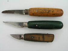 3pc Lot Vintage Wood Handle Knives