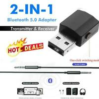 Transmitter Receiver 2in1 Bluetooth 5.0 Stereo Audio One-click Adapter