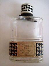 Vintage Art Deco Era Christian Dior Cologne Glass Bottle Bottle Made In France *
