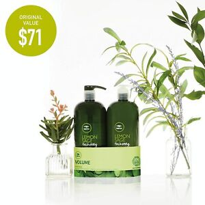 Paul Mitchell TeaTree Lemon Sage Thickening Shampoo, Con. OR Duo 1L (Choose one)