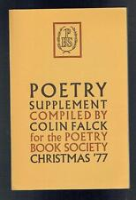 Falck, Colin; Poetry Supplement Christmas 1977 VG