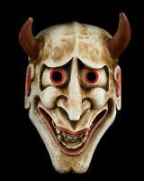 Maschera Noh Kyougen Oni Bianco Ecru Devil No. Demon Giapponese Legno Diavolo