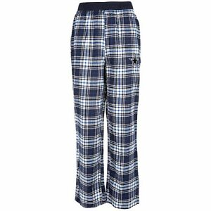 Dallas Cowboys NFL Youth Johnner Navy Plaid Pajama Pants Size Medium (12/14) NWT