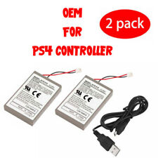 2x Rechargeable Battery For PS4 Controller 2000mAh Replacement & Charging Cable