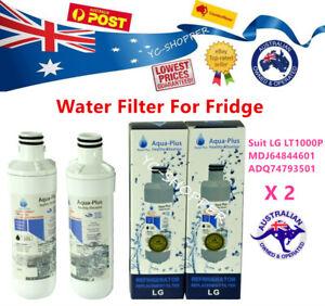 2 X LG Fridge Filter 2 x ADQ747935 water filter LT1000P