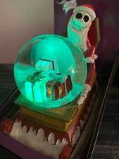 Disney Nightmare Before Christmas SANTA JACK SLEIGH Snow globe Sled Lights Music