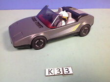 (K33) playmobil voiture sport grise ref 31621