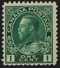 "1911 Canada Sc#104  King George V  ""dark green"" -Short perf  Mint NH OG  CV $45"