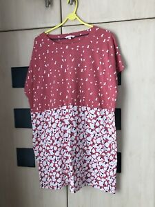 White Stuff Pink Print  Tunic  Top Size 20. Pockets. Good Condition
