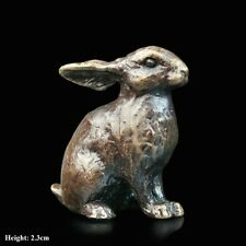 Bunny Solid Bronze Foundry Cast Detailed Sculpture by Butler And Peach [2065]