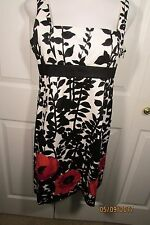 Nine West Dress, 12, Printed, Sleeveless,  side zipper, cotton/spandex