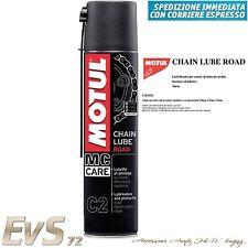 Motul C2 CHAIN LUBE ROAD Lubrificante Grasso Spray Catene MOTO STRADA Kart 400ml