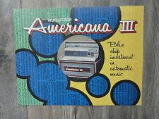 Wurlitzer Americana III Jukebox  Flyer Original Brochure