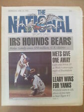THE NATIONAL SPORTS DAILY NEWSPAPER IRS HOUNDS CHICAGO BEARS HALAS 4/18 1990