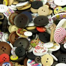 40 x Wooden Buttons - Natural, Rustic, Shabby Chic  Assorted Sizes 10mm-40mm B52