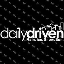 "Daily Driven Portland Vinyl 9"" Decal illest fatlace jdm car sticker laptop funny"
