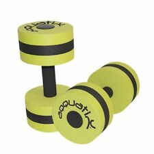 Aqquatix Aqua Fitness Green Dumbells Pair For Water Aerobics Strength Training